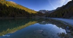 Lac de l'orceyrette briancon a couchant